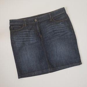 Loft Mini Jean Skirt Mini Denim Pencil Skirt
